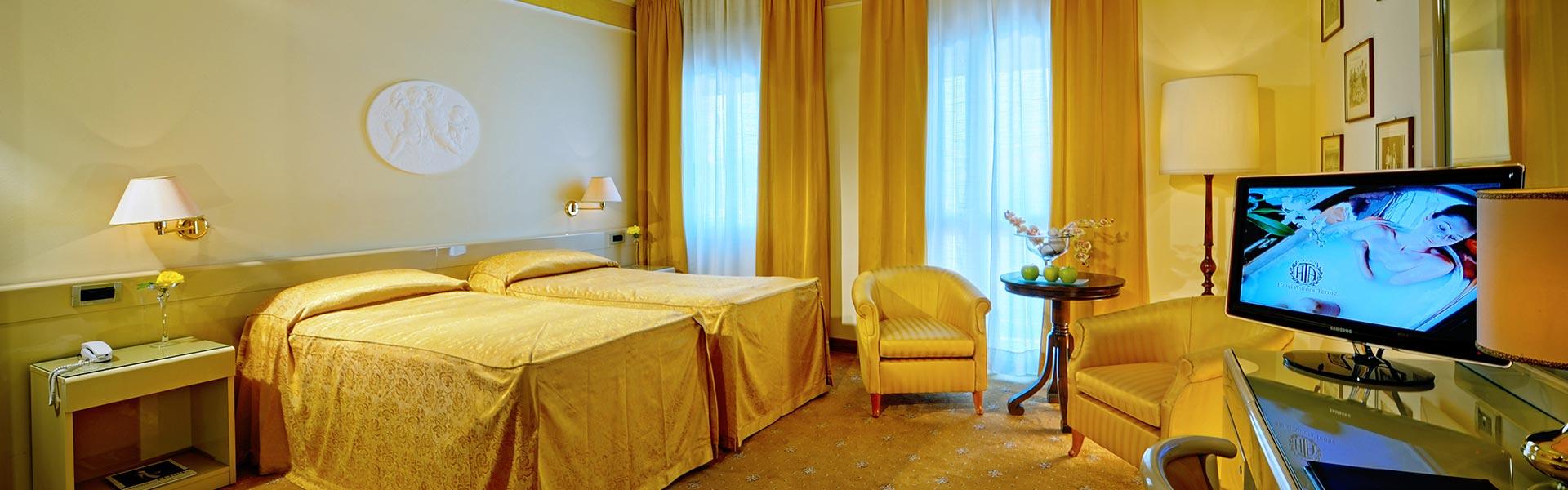Camera Elegant, soggiorno di classe ad Abano Terme – Hotel Aurora Terme